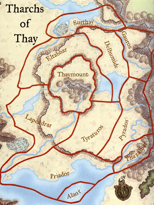 regional map of thay